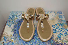 """IMPO Barely/Barely Sandals """"Reem"""", Pearlized Blush w/Beachy Accents Size 9M NIB"""