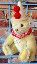 Vintage 1986 Limited Edition 1926 Steiff Teddy Clown -  CUTE Yellow Mohair Bear!