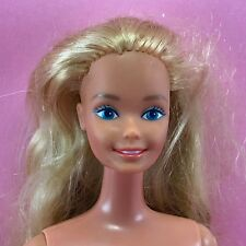 Barbie 1980s BARBIE Nude Long Hair Blonde Superstar Face Vintage TNT Doll O23