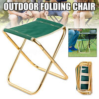 Portable Chair Folding Camping Stool Outdoor Fishing Seat Green Aluminum