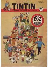 TINTIN 1951 n° 52 couverture HERGE