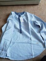 New VIOLETA by MANGO Women's Cotton Oxford Shirt  SIZE L