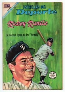 ESTRELLAS del DEPORTE #39 Baseball Mickey Mantle, Novaro Mexican Comic 1968