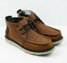 Mens Toms Chukka Boots Pull Up Waterproof Boots - Brown Leather, Size 10