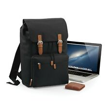 Black Vintage Laptop Bag Backpack Rucksack Case School Work College Briefcase