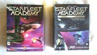 Star Trek STARFLEET ACADEMY Pc Cd Rom + CHEKOVS LOST MISSIONS BOTH BOXED