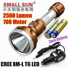 SMALL SUN 2000 Lumen CREE XML T6 LED TACTICAL FLASHLIGHT TORCH LAMP T23+ 2x18650