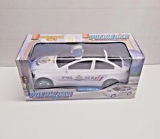 """10"""" Police Car With 3D Light & Sound Kids' Play Toys Vehicle Run and Spin Car"""
