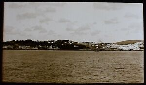 ANTIQUE Magic Lantern Slide TANGIERS FROM THE SEA C1890 PHOTO MOROCCO