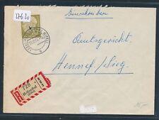27620) Kall, Reco-Brief 1956 ab Hellenthal (Eifel), K2 + AKZ-RZ