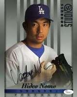 Hideo Nomo Jsa Coa Autograph 8x10 Donruss Photo  Hand Signed Authentic