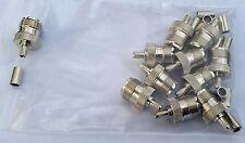 10 lot UHF SO239 jack crimp RG58 RG142 LMR195 RG400 cable self term pin free shp