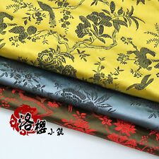 Chinese clothing Dress Kimono Cloth COS Cheongsam Fabric Brocade Flowers Birds
