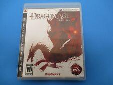 PlayStation Dragon age Origins, Rated M, 2009, The Dark Fantasy Epic