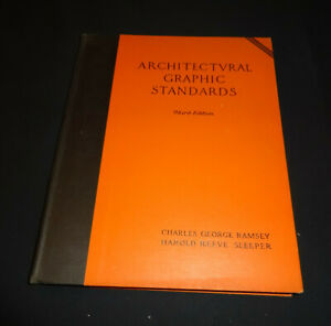 Architectural Graphic Standards Third Edition by RAMSEY & SLEEPER 1941 (Charity)
