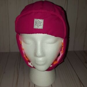 Faded glory girls infant/toddler pink trapper hat D4