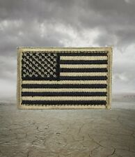 Black and Tan Embroidered US American Flag Morale Patch with Hook Back  Devgru