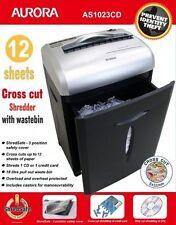 CROSS CUT PAPER SHREDDER Heavy Duty 12 fogli di carta di credito CD Ufficio Cestino elettrico