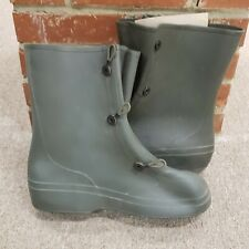 KCA Military Army Green Mens Size 9 Protective rubber waterproof Over Boots