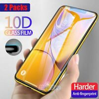 2x 10D Curved Full Cover Tempered Glass Screen Protector for Galaxy S8 S10+ S10e