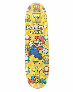 """Nintendo Super Mario Complete 28"""" Skateboard Mamma Mia Rare Toy's R Us Exclusive"""