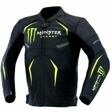 Men Monster Energy Leather Jackets Motorcycle Suit Bikers Riding Trouser Pants