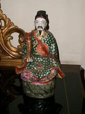 Cina antica porcellana policroma divinità Lu Xing con Ru Yi dignitario sigillo