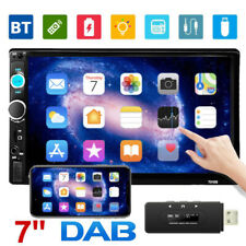 """Doppel 2 Din 7"""" Autoradio DAB+ Stereo Touch Screen BT MP5 Video USB FM AUX IN"""