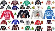 Kids Childrens Christmas Jumper Xmas Girls Boys Retro Rudolph Winter Sweater