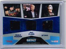 2011 TRISTAR TNA HULK HOGAN/RIC FLAIR/STING EVENT WORN SHIRTS CARD /25