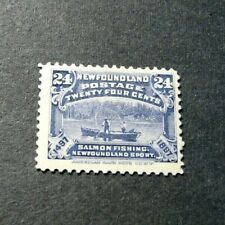 Newfoundland Stamp Scott# 71 Salmon Fishing  1897 MH  L296
