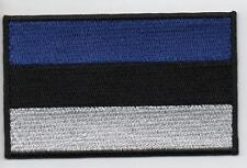 ESTONIA Flag Large 7cm High Quality Embroided Iron On / Sew On Patch Badge
