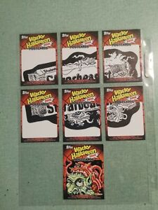 Wacky Packages Halloween Postcards Sketches - STARBEAST LOT - COMPLETE - Camera