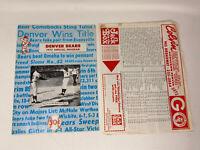 1977 Denver Bears Program Montreal Expos Minor League American Association