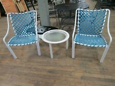 Vintage Tropitone Patio Side Chairs Torquoise Mid Century Modern