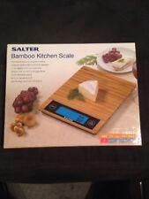 Salter Eco Friendly Bamboo Kitchen Scale 11-Pound