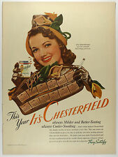 New listing Vintage 1942 Chesterfield Cigarettes Full Page Magazine Print Ad: Lois January