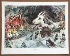 "Marc Chagall ""The War"" Vintage Original 1960 1st Print Ltd Ed Litho"