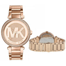 New Michael Kors MK5865 Stylish Ladies Logo Women Rose Gold Designer Watch
