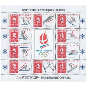Bloc Feuillet 1992 N°14 Timbres France - Jeux Olympiques d'Hiver Albertville 92