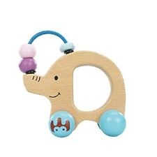 Natural Wood Elephant and Sliding Beads Learning Toy for Toddlers, Preschool Fun
