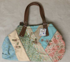 Fossil Kendall Fabric Tote Bright Multi color Satchel - New with Tags - $94 new