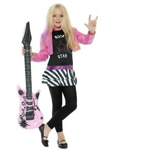 Child Glam Rockstar Popstar Girls Fancy Dress Costume