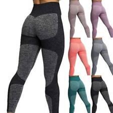 Womens Seamless Leggings Gym High Waist Push Up Sports Workout Yoga Pants Comfy
