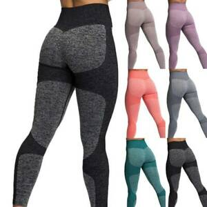Womens Seamless Leggings High Waist Push Up Sports Workout Joggers Yoga Pants