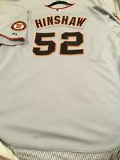 2008 GIANTS ALEX HINSHAW GAME ISSUED & SIGNED ROAD JERSEY - MCM