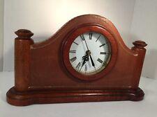 Antique-like Vintage Classic Parsons Quartz Clock 13�X7½�X2⅞� Wood/Leather Frame