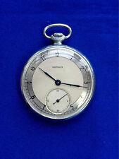 Vintage Soviet CCCP Russian open face slim pocket watch MOLNIJA 452714