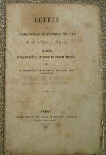GIROD de L'Ain /troupeau de Naz/ Comte de POLIGNAC/ prohibition des laines/ 1827