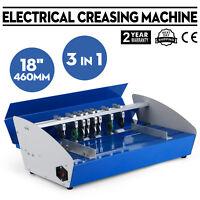 "New 18"" Electric 3-in-1 Scorer Perforator Paper Creasing Machine Scoring Creaser"